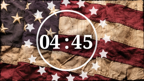 Countdown Video on Vintage Flag