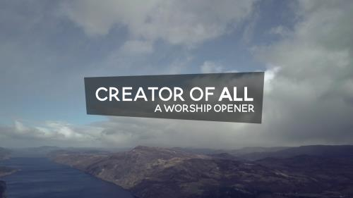 Video Illustration on Creator Of All