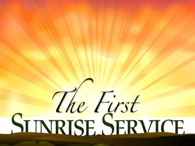PowerPoint Template on Easter  Sunrise  Service