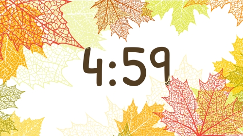 view the Countdown Video Modern Leaves