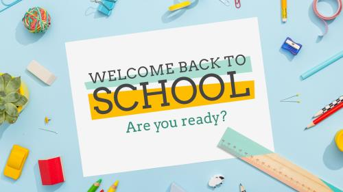 PowerPoint Template on Welcome Back To School
