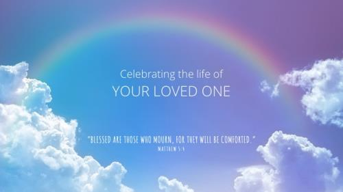 PowerPoint Template on Funeral - Rainbow