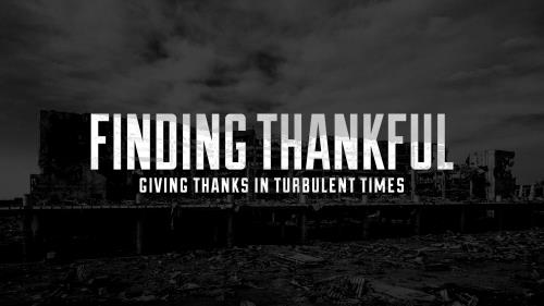 PowerPoint Template on Finding Thankful