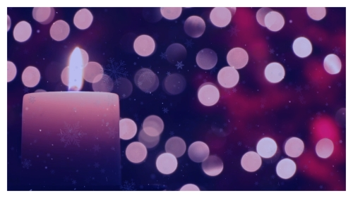 Image on Advent Candle