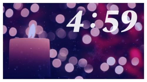Countdown Video on Advent Candle