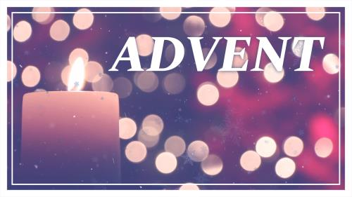 PowerPoint Template on Advent Candle