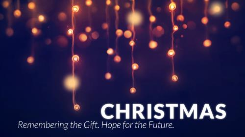 PowerPoint Template on Christmas Bokeh