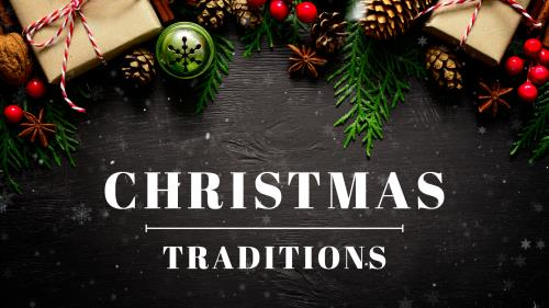 PowerPoint Template on Christmas Traditions