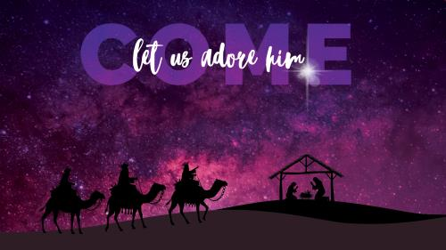 PowerPoint Template on Come Let Us Adore Him