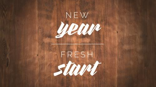 PowerPoint Template on New Year Fresh Start