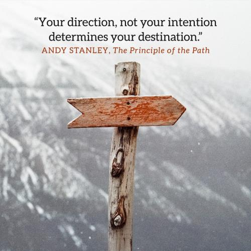 Image on The Path Week One: Your Direction Determines Your Destination (Image)