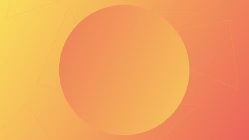 PowerPoint Template on Abstract Orange