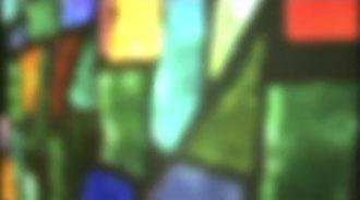 Motion Background on Stained Glass Light Travel