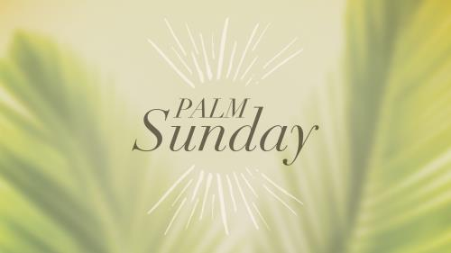 PowerPoint Template on Traditions Palm Sunday