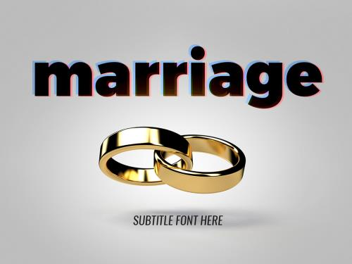 PowerPoint Template on Marriage Rings