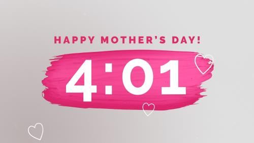 view the Countdown Video Pink Paint Strokes (Mother' Day)