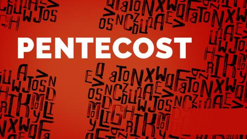 PowerPoint Template on Pentecost Typography