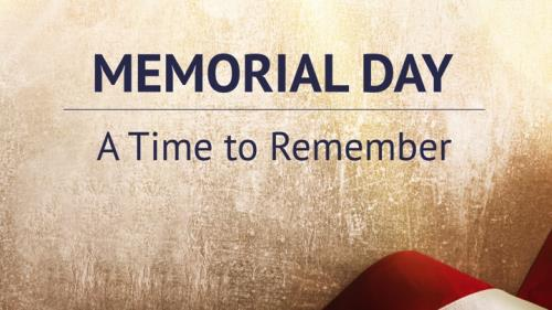 view the PowerPoint Template Memorial Day - A Time To Remember (Sermon)