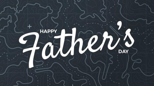 PowerPoint Template on Father's Day Map