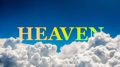 PowerPoint Template on Heaven Clouds