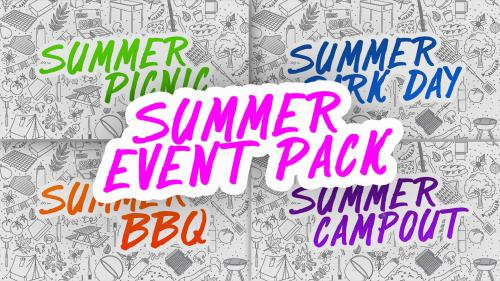 PowerPoint Template on Summer Event Pack