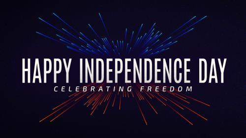 view the PowerPoint Template Independence Day Bright Lights