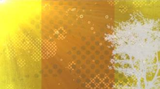 Motion Background on Sun Tree Bubbles - Yellow