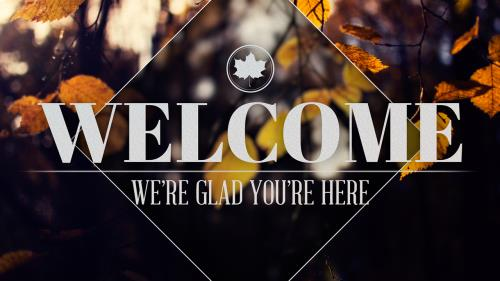 Motion Background on Fall Welcome