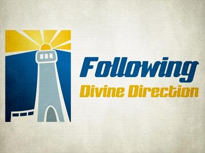 Following  Divine  Direction PowerPoint Template