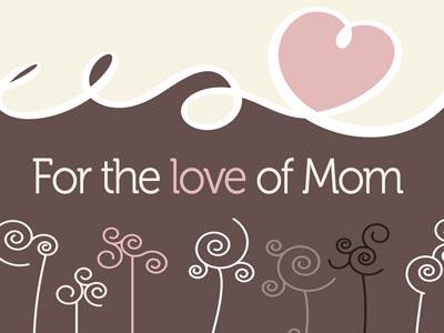 PowerPoint Template on For The  Love Of  Mom