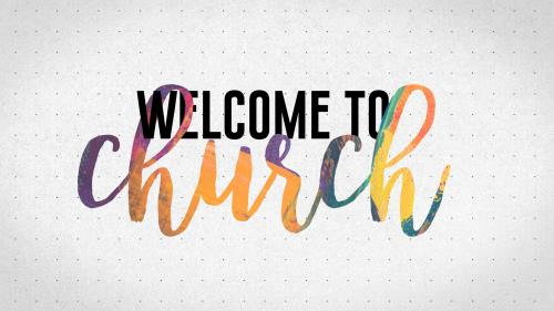 PowerPoint Template on Welcome To Church (Paint Texture)