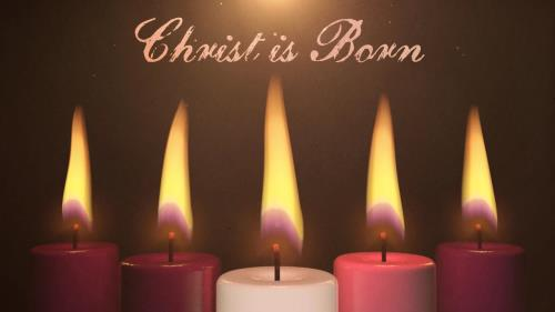 view the Motion Background Advent Candles Christ