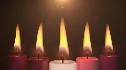 view the Motion Background Advent Candles Christ Candle