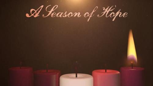 view the Motion Background Advent Candles Hope