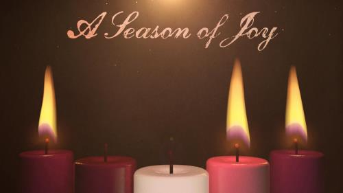 view the Motion Background Advent Candles Joy