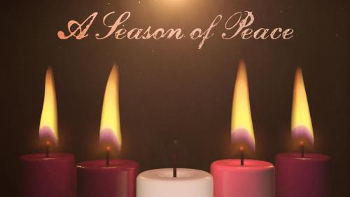 view the Motion Background Advent Candles Peace