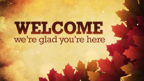 Motion Background on Autumn Welcome 01