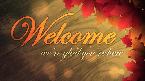 Motion Background on Autumn Welcome 02