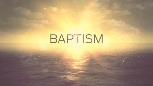 Motion Background on Baptism Title