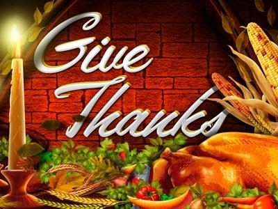 PowerPoint Template on Give  Thanks 2