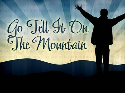 PowerPoint Template on Go Tell It On The Mountain With Lyrics