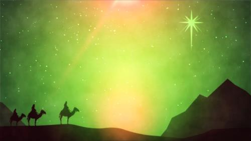 Motion Background on Christmas Wisemen