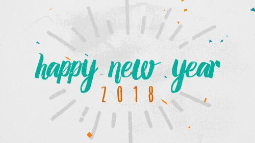 view the Motion Background Colorful Confetti Happy New Year (2018)