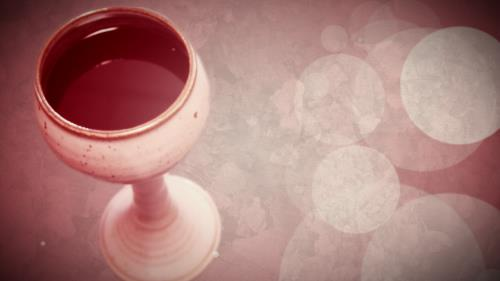 Motion Background on Communion Cup Blank