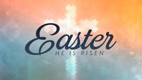 view the Motion Background Cross Shapes Easter Title