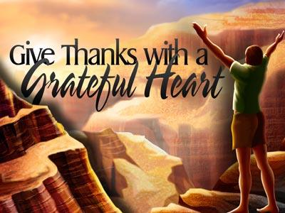 PowerPoint Template on Grateful  Heart