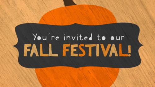 view the Motion Background Cute Fall Festival Invite