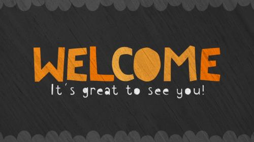 Motion Background on Cute Fall Welcome