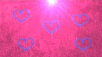 Motion Background on Turbulent Hearts - Blue On Pink