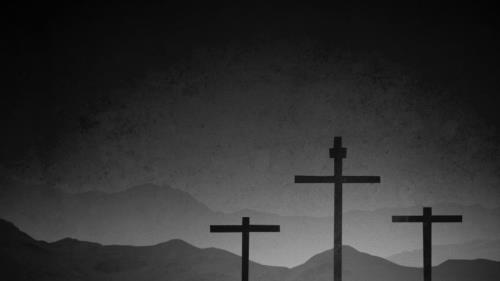 Motion Background on Good Friday Crosses 02